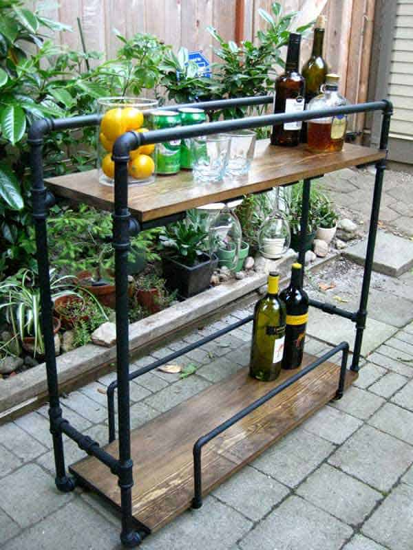 #2 CONSTRUCT A NEAT BAR OUT OF PIPES AND WOOD
