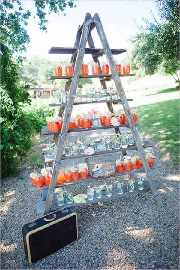 #22 WOODEN LADDER SERVING DRINKS IN STYLE