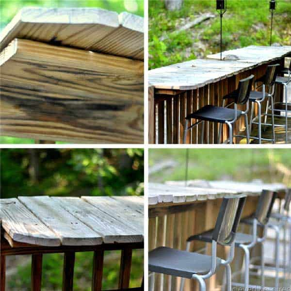4 Use Wooden Pallets To Create A Small Bar In Your Yard