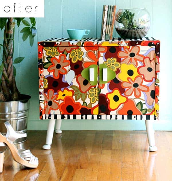 27 Super Cool Furniture Transformations Done With Wallpaper homesthetics decor (1)