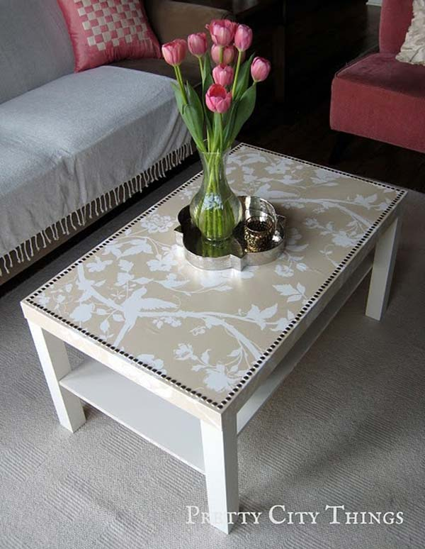 27 Super Cool Furniture Transformations Done With Wallpaper homesthetics decor (12)