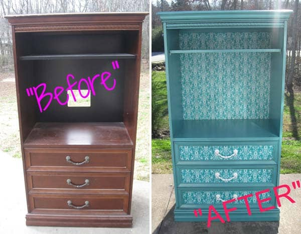 27 Super Cool Furniture Transformations Done With Wallpaper homesthetics decor (14)