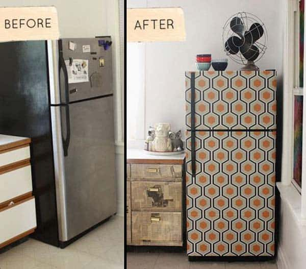 27 Super Cool Furniture Transformations Done With Wallpaper homesthetics decor (17)