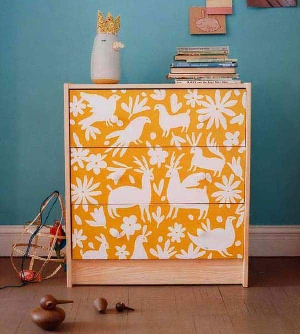 27 Super Cool Furniture Transformations Done With Wallpaper homesthetics decor (18)