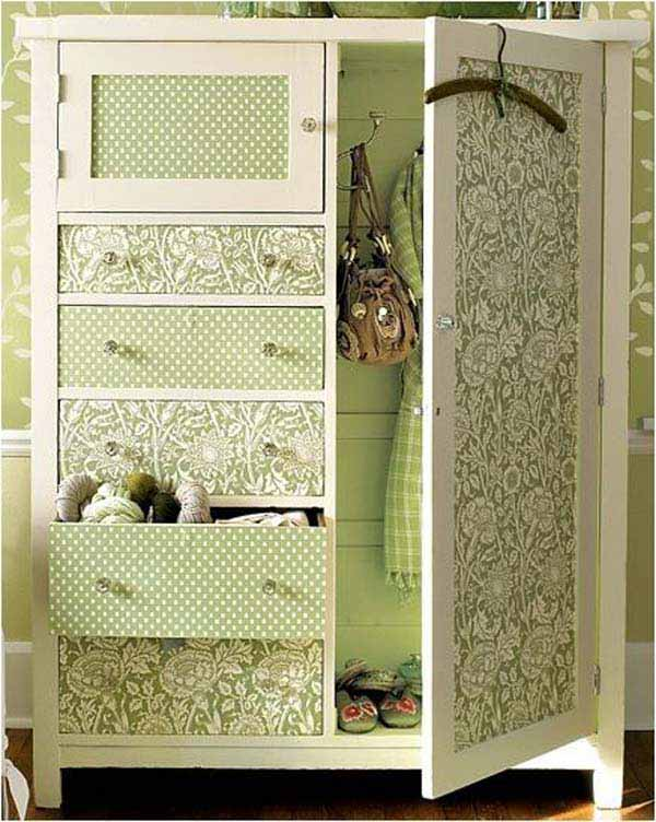 27 Super Cool Furniture Transformations Done With Wallpaper homesthetics decor (21)
