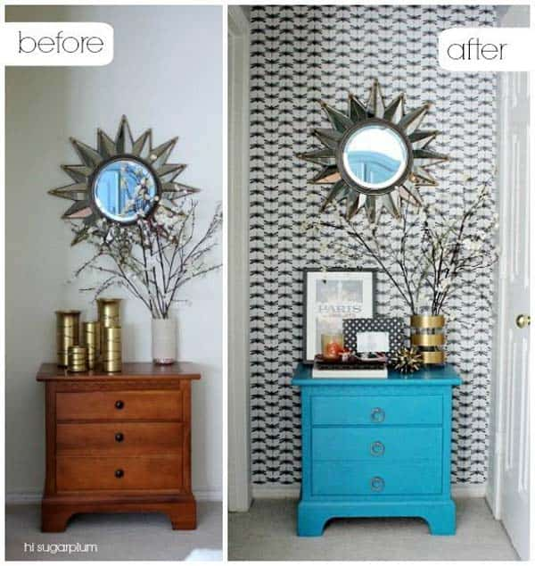 27 Super Cool Furniture Transformations Realized With Wallpaper homesthetics decor
