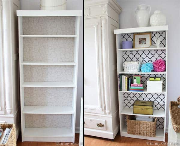27 Super Cool Furniture Transformations Done With Wallpaper homesthetics decor (3)