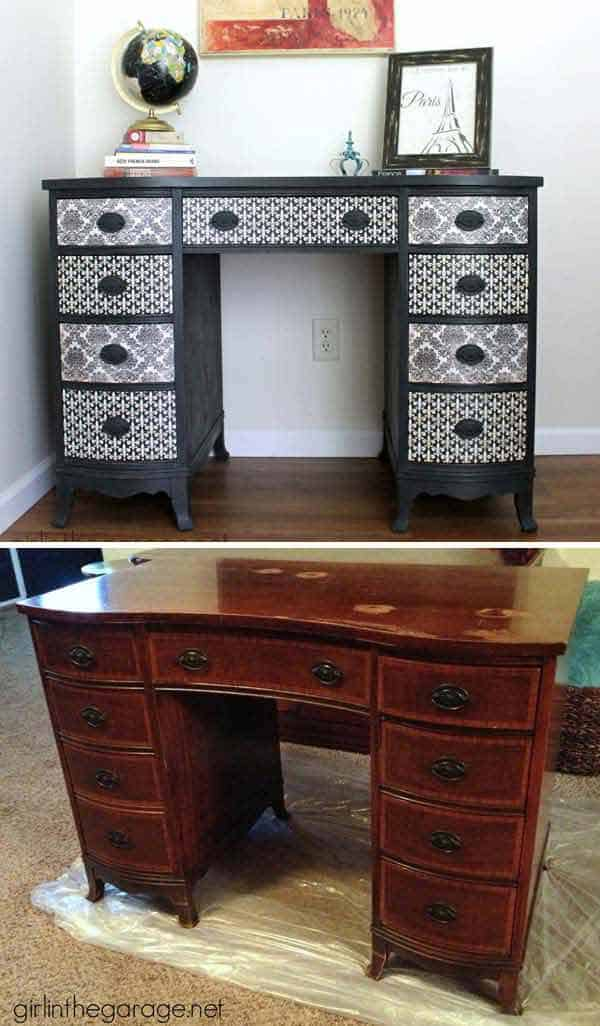 27 Super Cool Furniture Transformations Done With Wallpaper homesthetics decor (4)