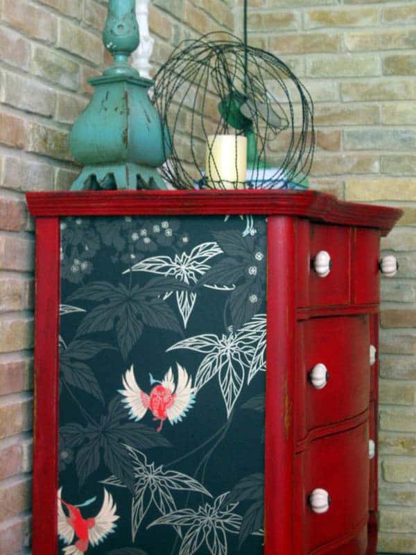 27 Super Cool Furniture Transformations Done With Wallpaper homesthetics decor (5)