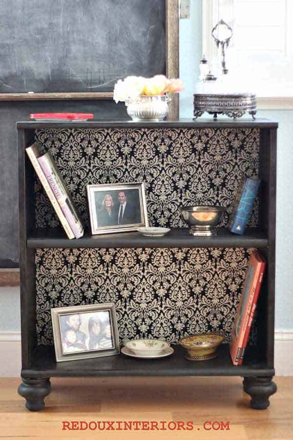 27 Super Cool Furniture Transformations Done With Wallpaper homesthetics decor (8)