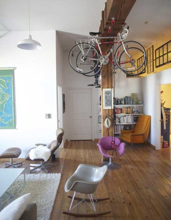 30 Design Ideas on How to Decorate With Bikes in Your Household homesthetics decor (1)