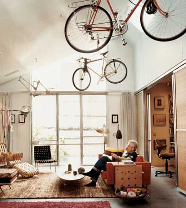 30 Design Ideas on How to Decorate With Bikes in Your Household homesthetics decor (15)