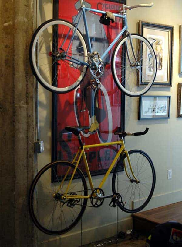 30 Design Ideas on How to Decorate With Bikes in Your Household homesthetics decor (16)