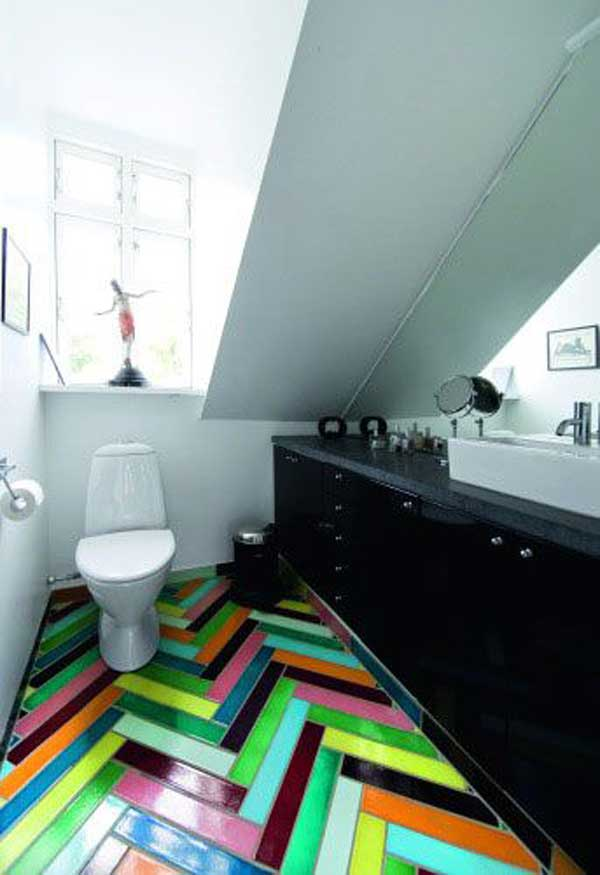 Unusual Bathroom Flooring Ideas Part - 45: 32 Highly Creative And Cool Floor Designs For Your Home And Yard  Homesthetics Design (24