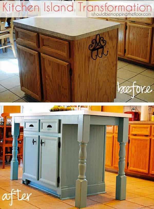 32 Super Neat and Inexpensive Rustic Kitchen Islands to Materialize  homesthetics decor (11)