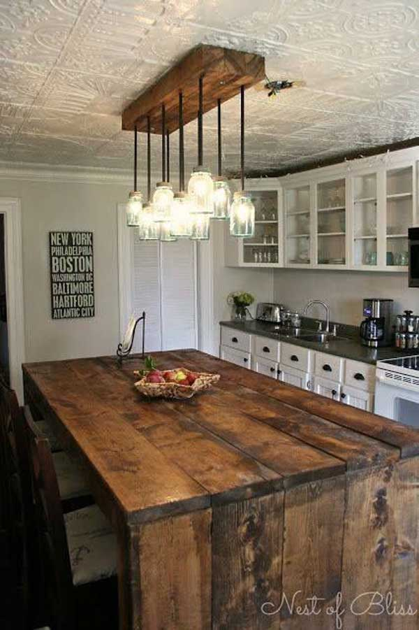 inexpensive kitchen lighting. Beautiful Inexpensive 32 Super Neat And Inexpensive Rustic Kitchen Islands To Materialize  Homesthetics Decor 13 And Lighting U