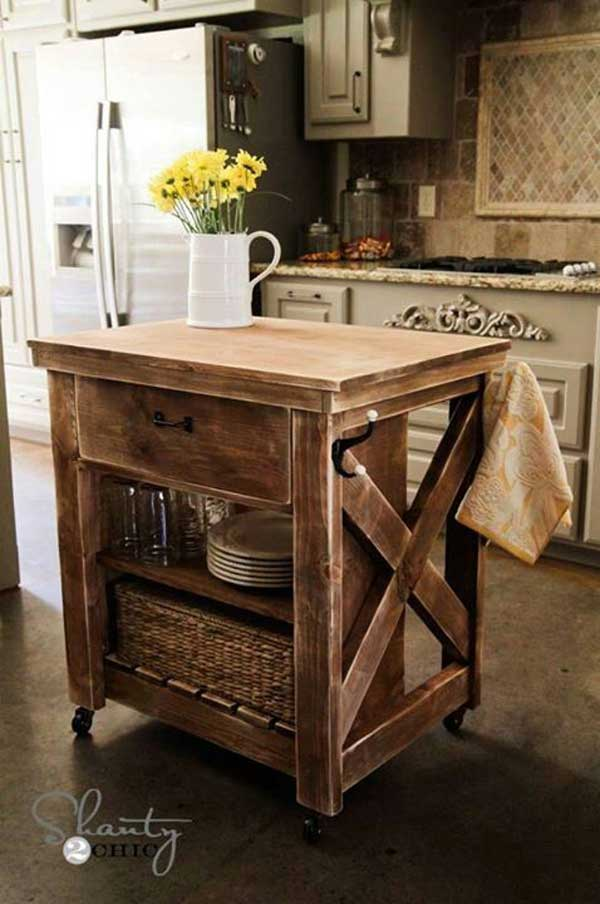 Incroyable 32 Super Neat And Inexpensive Rustic Kitchen Islands To Materialize  Homesthetics Decor (19)