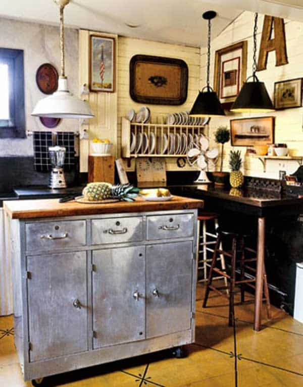 32 Super Neat and Inexpensive Rustic Kitchen Islands to Materialize  homesthetics decor (20)