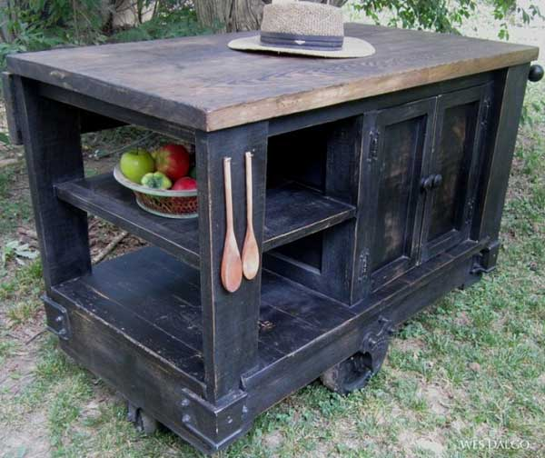 32 Super Neat and Inexpensive Rustic Kitchen Islands to Materialize  homesthetics decor (21)