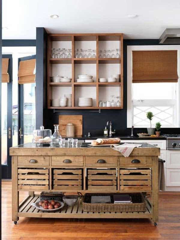 32 super neat and inexpensive rustic kitchen islands to materialize homesthetics decor 22 - Rustic Kitchen Island
