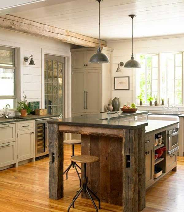Bon 32 Super Neat And Inexpensive Rustic Kitchen Isles To Materialize