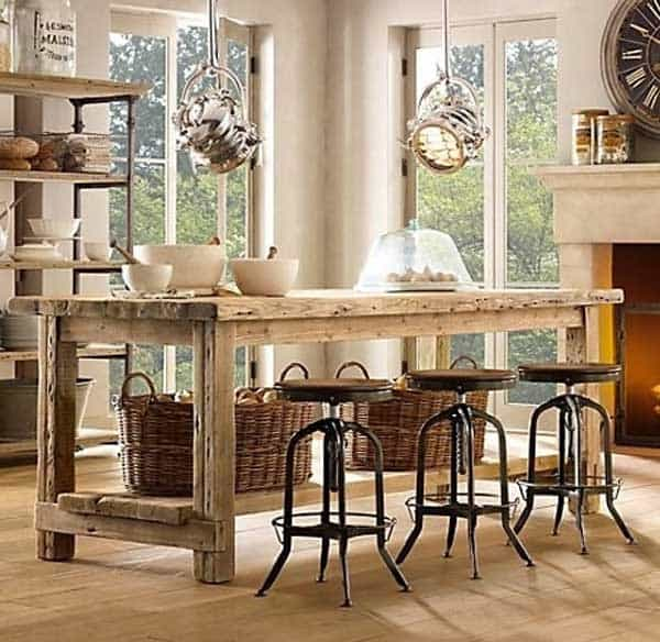 32 Super Neat and Inexpensive Rustic Kitchen Islands to Materialize  homesthetics decor (4)