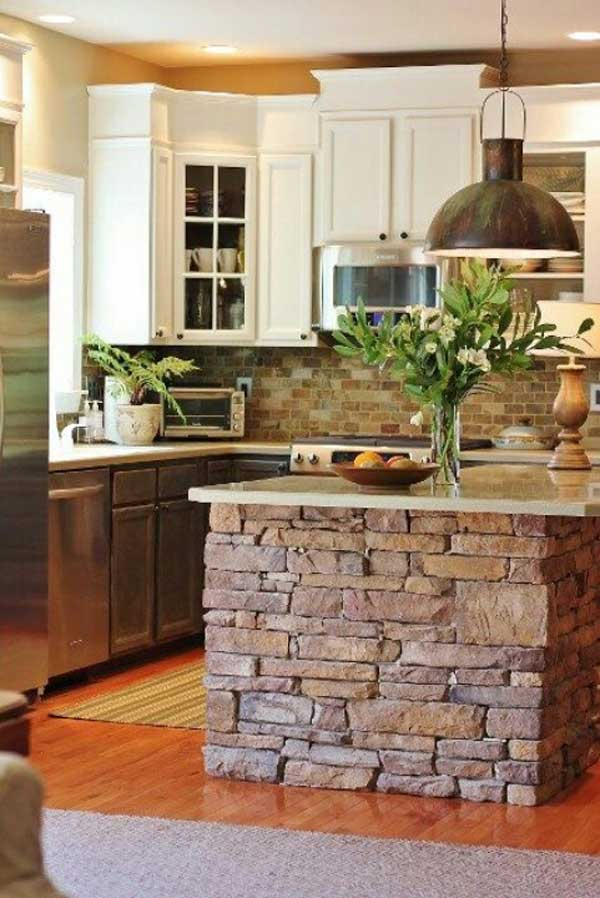 32 Super Neat and Inexpensive Rustic Kitchen Islands to Materialize  homesthetics decor (6)