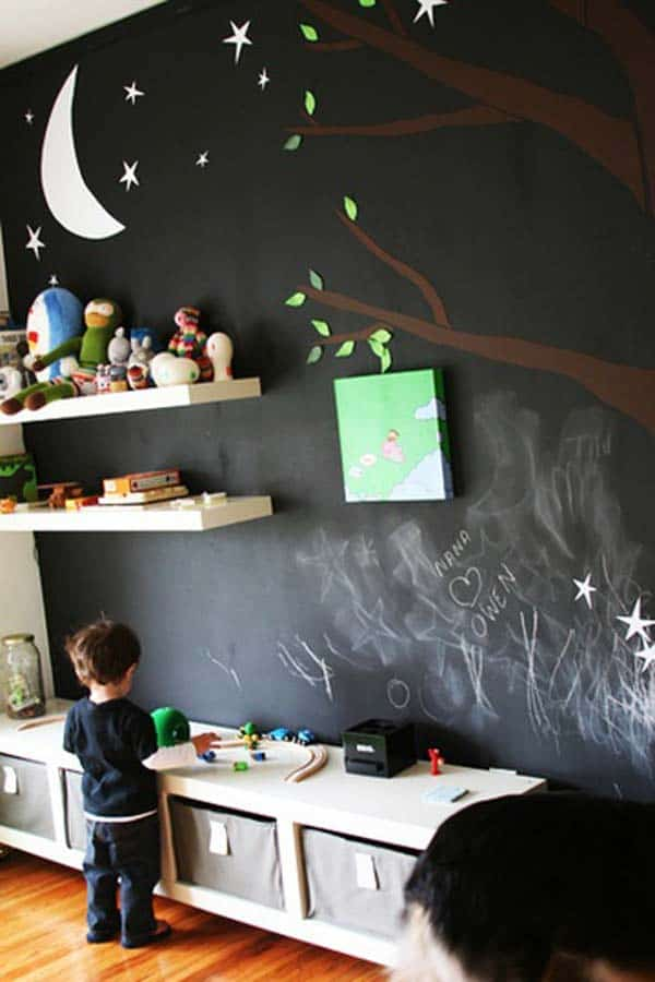 36 Examples That Will Teach You How to Decorate With Colored Chalkboard homesthetics decor (13)