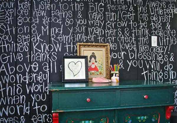 36 Examples That Will Teach You How to Decorate With Colored Chalkboard homesthetics decor (16)