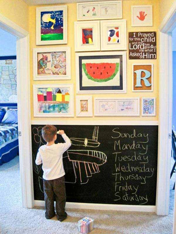 36 Examples That Will Teach You How to Decorate With Colored Chalkboard homesthetics decor (18)