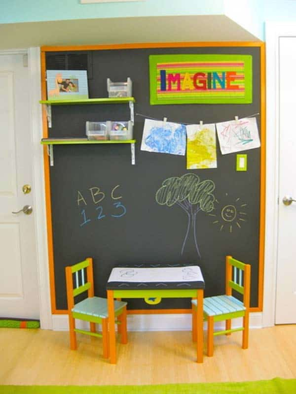 36 Examples That Will Teach You How to Decorate With Colored Chalkboard homesthetics decor (23)