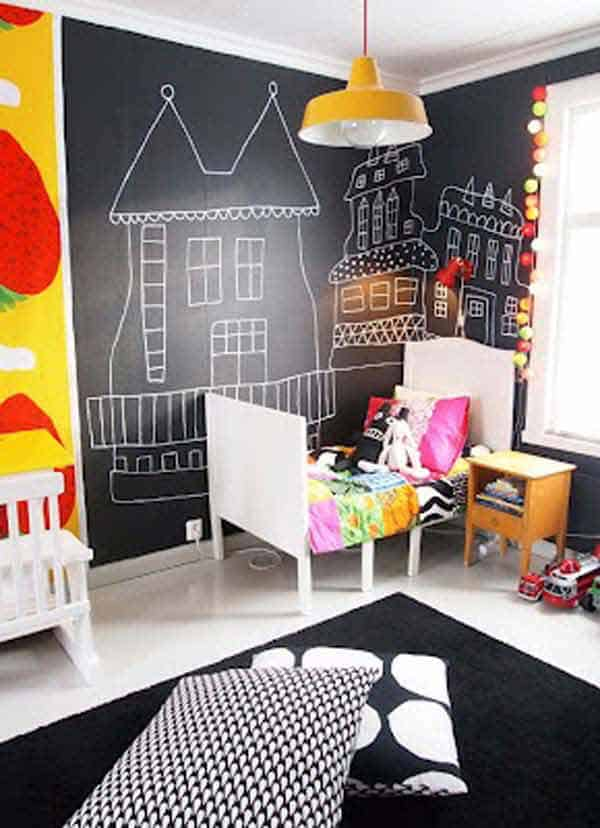 36 Examples That Will Teach You How to Decorate With Colored Chalkboard homesthetics decor (29)