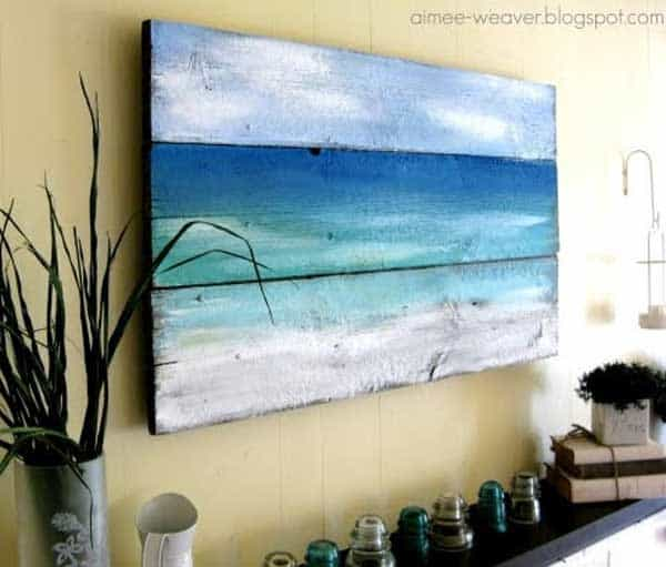 36 inspiring beach decor ideas for a breezy airy household for Beach mural ideas