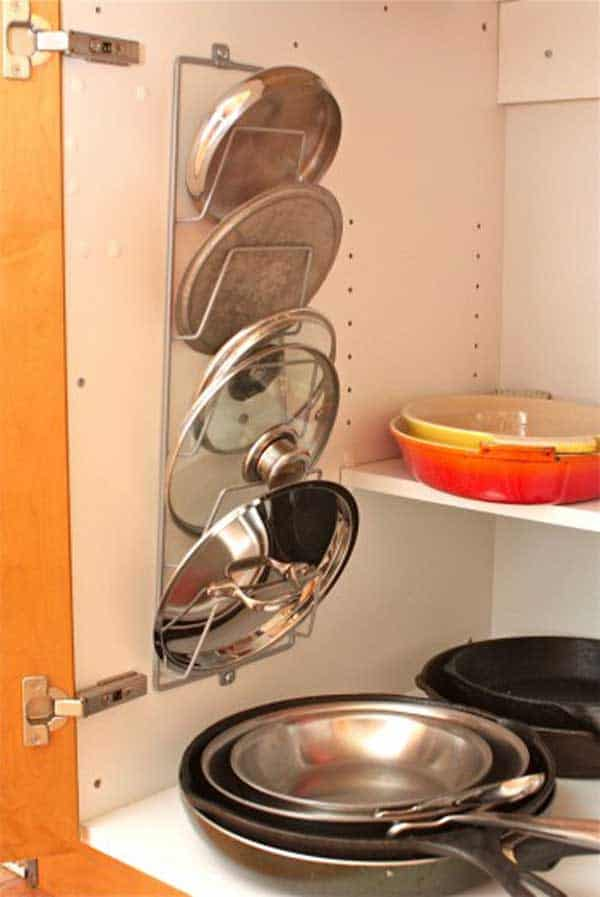 #11 USE A WIRE RACK TO KEEP ALL SOUP CANS IN ONE SPOT
