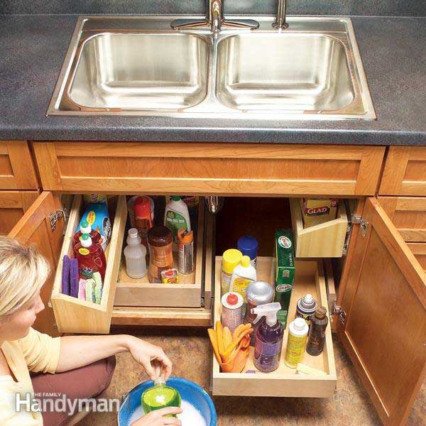 #15 CREATE SINK STORAGE TRAYS UNDER THE SINK