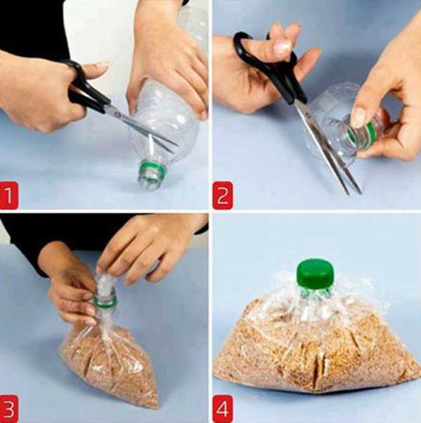 #18 USE BOTTLE TOPS TO CLOSE OFF BAGS
