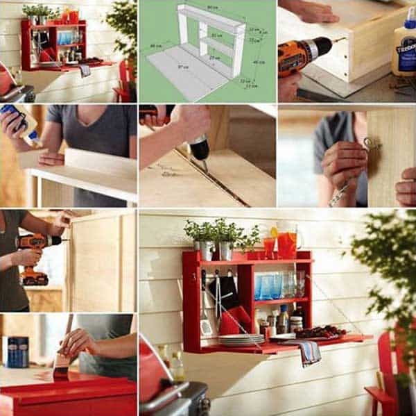 #20 CREATE A SMALL FOLDING TABLE FOR FESTIVE ENTERTAINING
