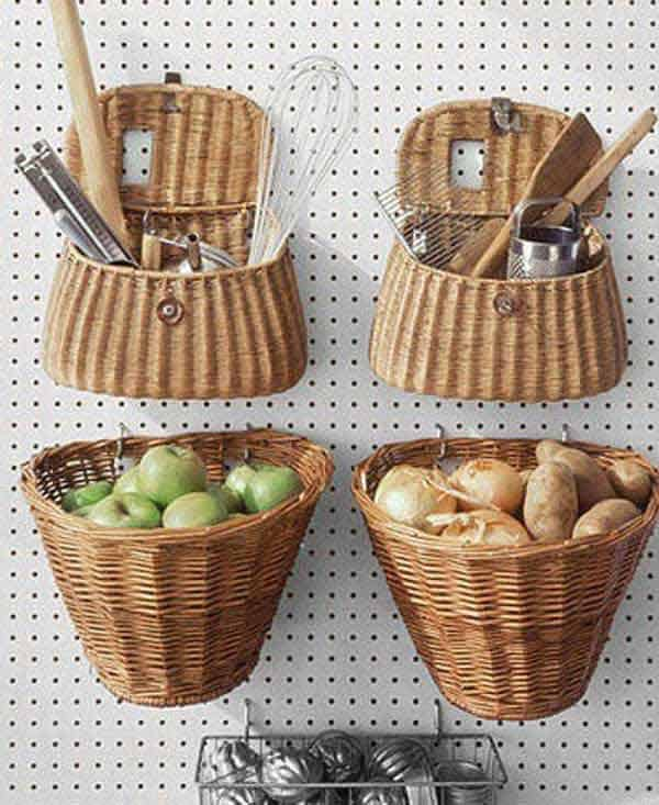 #22 INSTALL A PEGBOARD AND HANG UTENSILS AND EXTRA STORAGE
