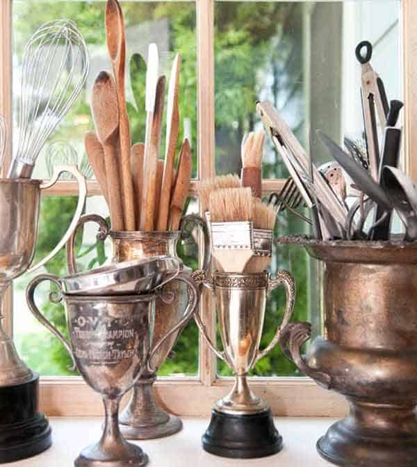 #28 STORE UTENSILS IN SUPER COOL VINTAGE TROPHIES