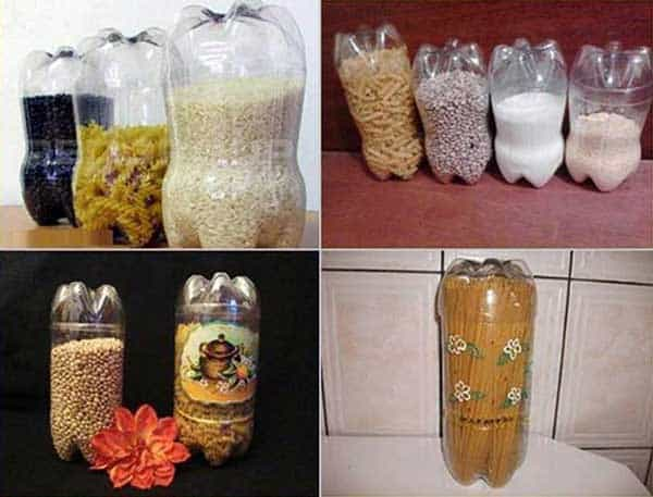 #37 STORE KITCHEN GOODS IN PLASTIC BOTTLES