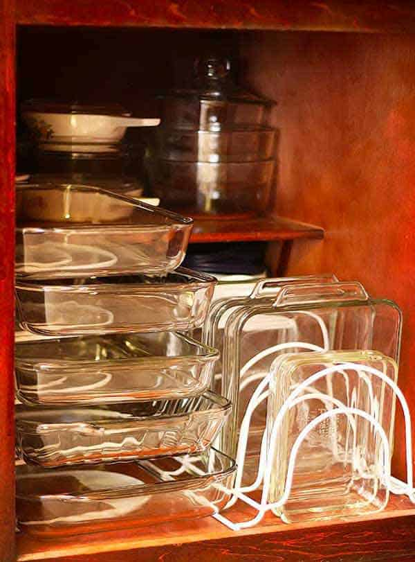 #8 CREATE A SEPARATE STORAGE FOR GLASS BAKING DISHES