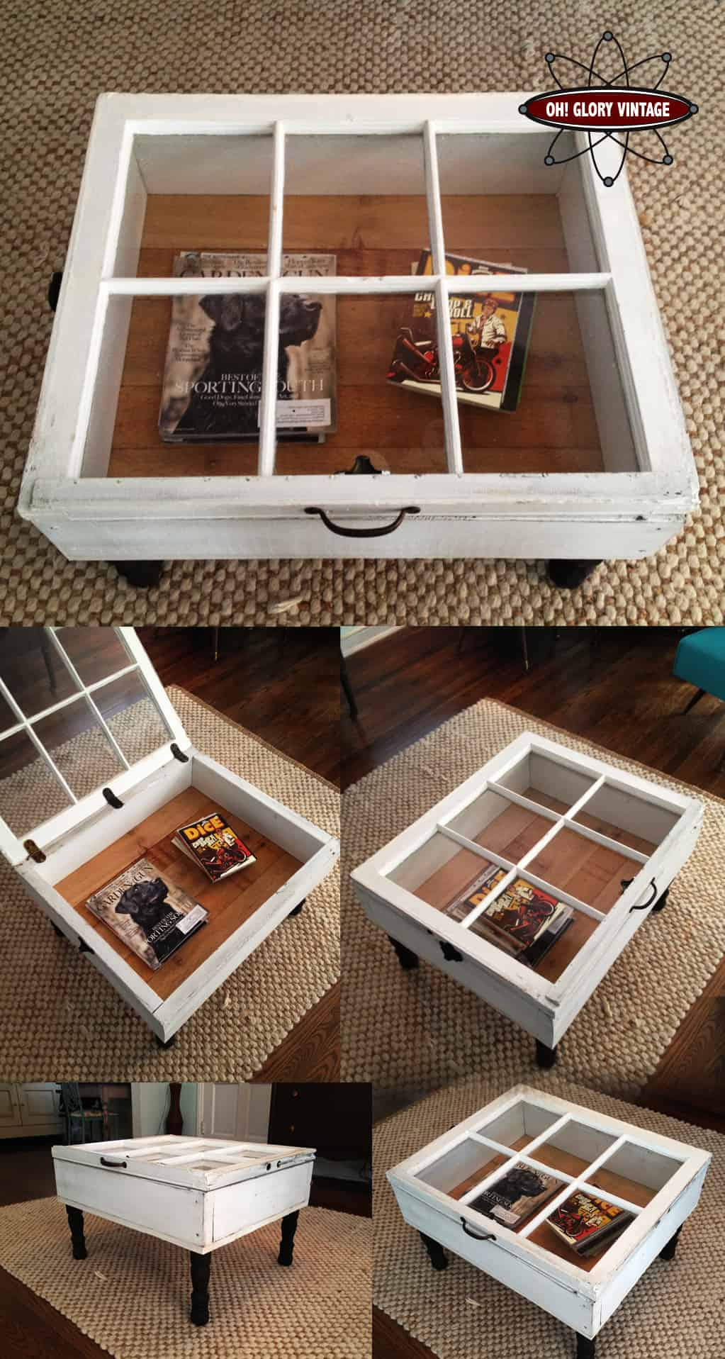 Old Windows Transformed Into A Beautiful Coffee Table