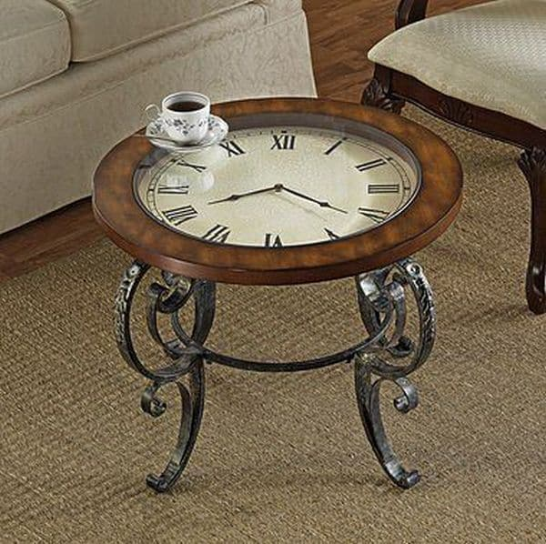 An Old Vintage Clock Recycled Into A Retro Coffee Table