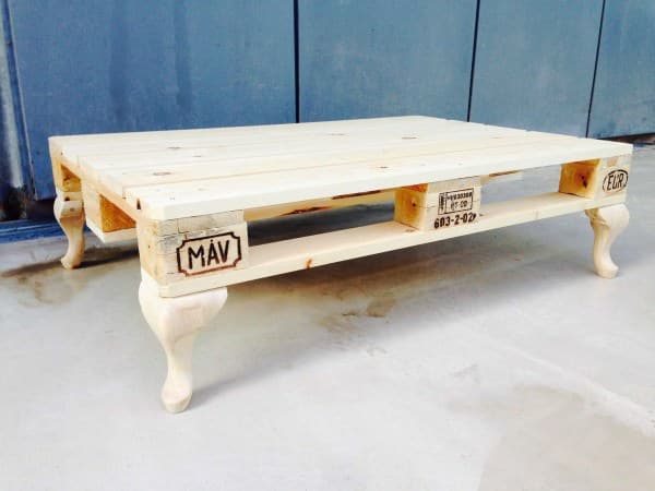 Delicieux DIY PALLET COFFEE TABLE