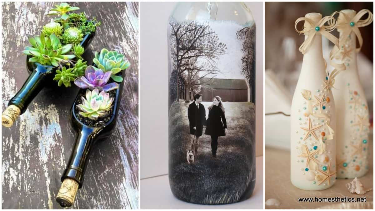 15 Wine Bottle Crafts Ideas For