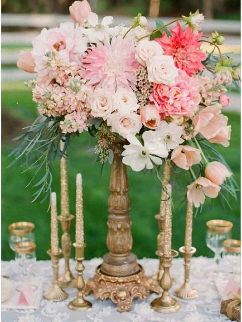 Elegant wedding centerpieces - Elegant And Dreamy Floral Wedding Centerpieces Collection Homesthetics 20