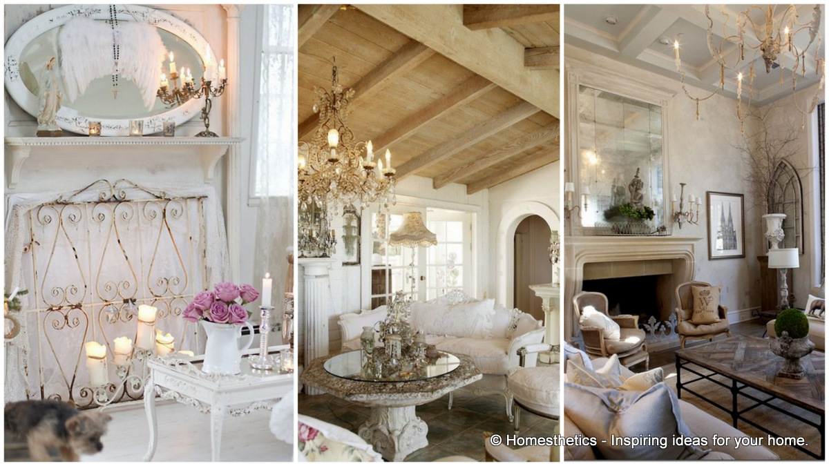 Top 18 dreamy shabby chic living room designs for Grey shabby chic living room ideas