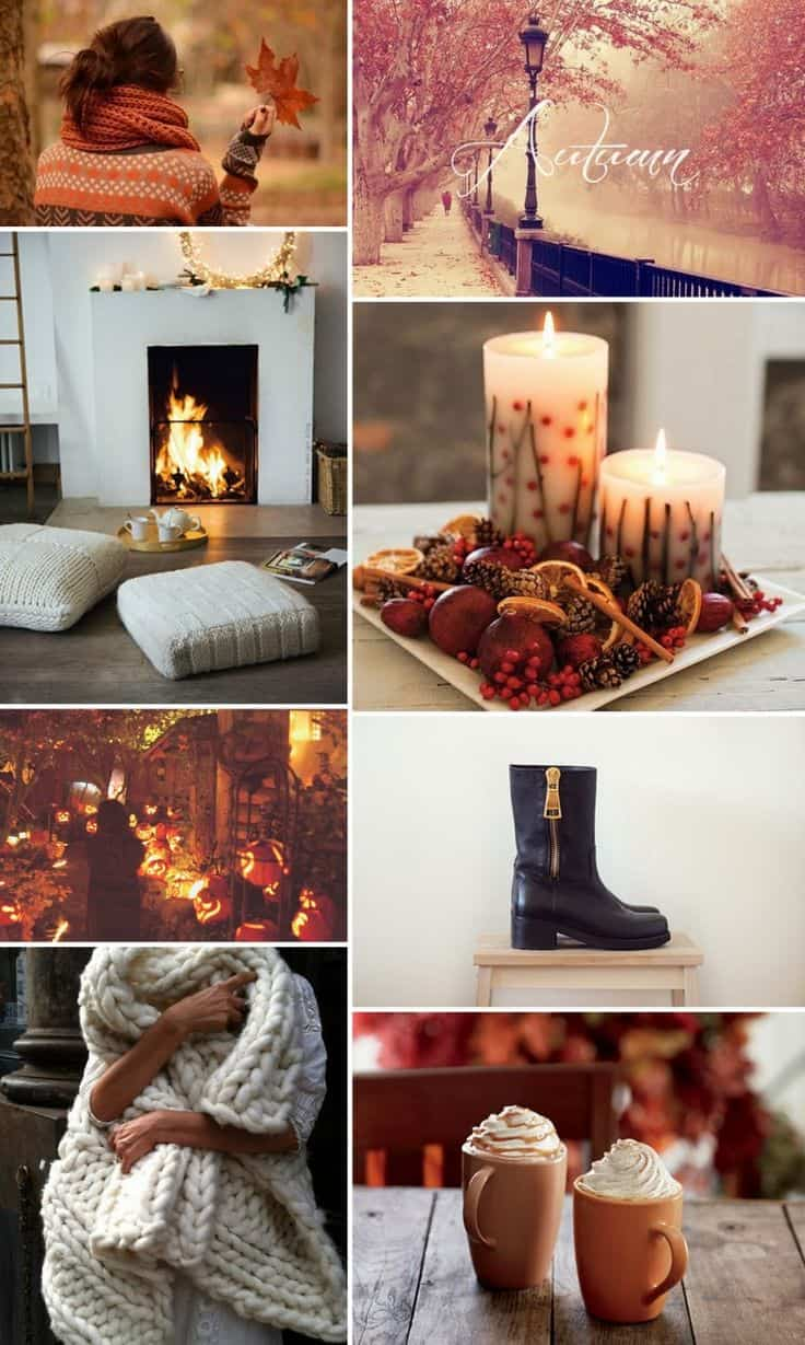 Start By Making A MOOD BOARD With What Autumn Signifies To You