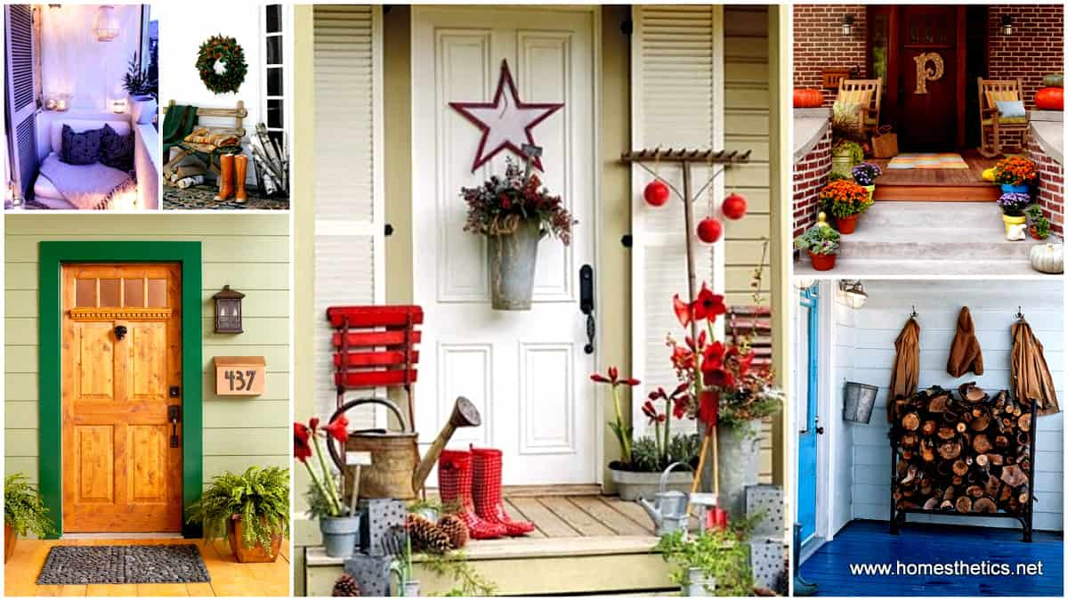 26 mesmerizing and welcoming small front porch design ideas for Redesigning the front of your house
