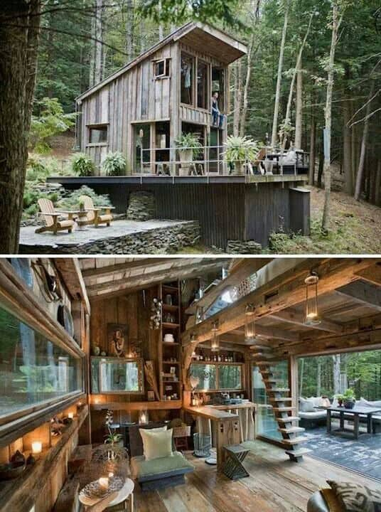 Surreal Log and Wood Cabins Exposed To The Wilderness-homesthetics (10)